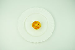 A cake on a white plate Royalty Free Stock Image