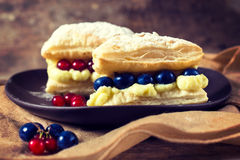 Cake wit berry fruit Royalty Free Stock Photo
