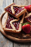 Cake wit strawberry Royalty Free Stock Photography