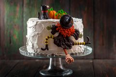 Cake with a witch Stock Photo