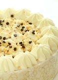 Cake With Nuts, Chocolate And A Cream Stock Photography