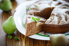 Cake With Pears Royalty Free Stock Photo