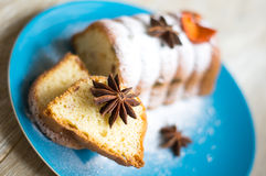Cake withe anise Royalty Free Stock Photo