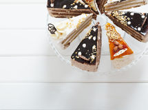 Cake on wooden background Royalty Free Stock Photos