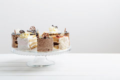 Cake on wooden background Stock Photos