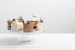 Cake on wooden background Stock Photos