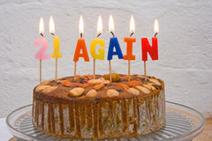 Cake for those worried about getting old. Royalty Free Stock Image