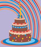 Cake 21 years. Birthday Cake - 21 years - birthday card Royalty Free Stock Photography