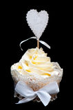 Cake with yellow cream Royalty Free Stock Photos