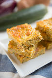 Cake with zucchini. And cheese Stock Photography