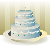 CakeBirthday Illustrazione di Stock