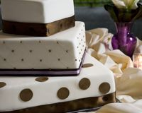 cakebröllop Royaltyfri Foto