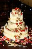 cakebröllop Arkivfoto