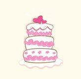 cakebröllop royaltyfri illustrationer