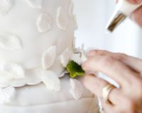 cakebröllop fotografering för bildbyråer