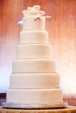 cakebröllopwhite Royaltyfri Fotografi