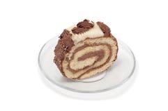 Cakebroodje op plaat Stock Afbeeldingen