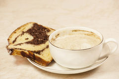 cakecappuccino Royaltyfria Bilder
