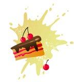 cakeCherry Fotografering för Bildbyråer
