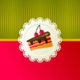 cakeCherry Arkivfoto