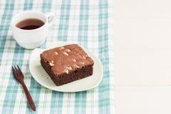 Cakechocolade brownies Stock Afbeeldingen
