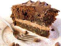 cakechoklad arkivbild