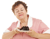 cakechoklad älskar servitrisen Royaltyfria Foton