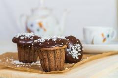 cakechoklad tre Royaltyfri Fotografi