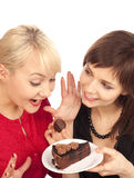 cakechokladkvinnor Arkivfoton