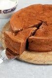 cakechokladorange Royaltyfri Fotografi
