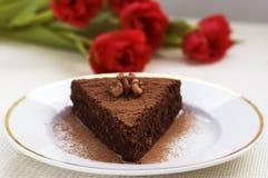 cakechokladskiva royaltyfri fotografi