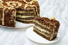 cakechokladvallmo s Royaltyfria Foton