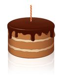 cakechokladvektor Royaltyfri Fotografi