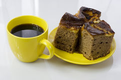 cakecoffe Royaltyfri Foto