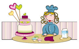 CakeDesign Royalty Free Stock Images