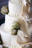cakedetaljbröllop Fotografering för Bildbyråer