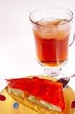 cakeefterrätten iced tea Arkivfoton