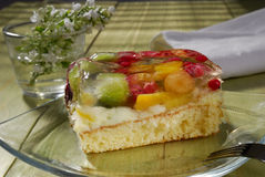 cakefrukt Royaltyfri Foto