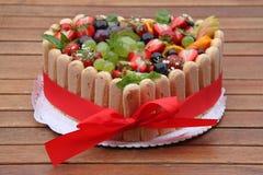 cakefruktbröllop Arkivfoton