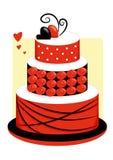Cakehartstocht Royalty-vrije Stock Foto's