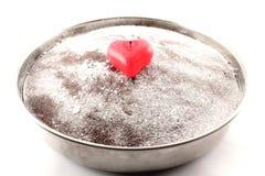 cakehjärta Arkivfoto