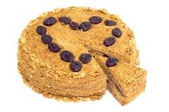 cakehonungvalnöt Arkivfoto