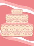 cakekortbröllop Arkivfoto
