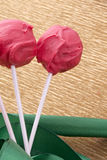 Cakepop sweet dessert for love Royalty Free Stock Images