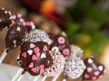 Cakepops在厨房里 免版税库存照片