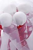 cakepops с красным украшением Стоковое фото RF