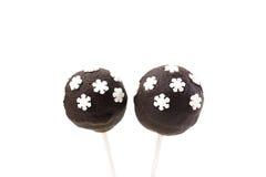 Cakepops с украшением снежинок Стоковое фото RF