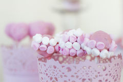 CakePops de nube Photos stock