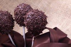 Cakepops dello sprincle del cioccolato Immagine Stock
