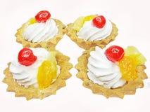 cakes önskar frukter söta Royaltyfri Fotografi